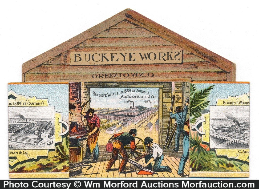 Buckeye Works Harvesters Folding Ad