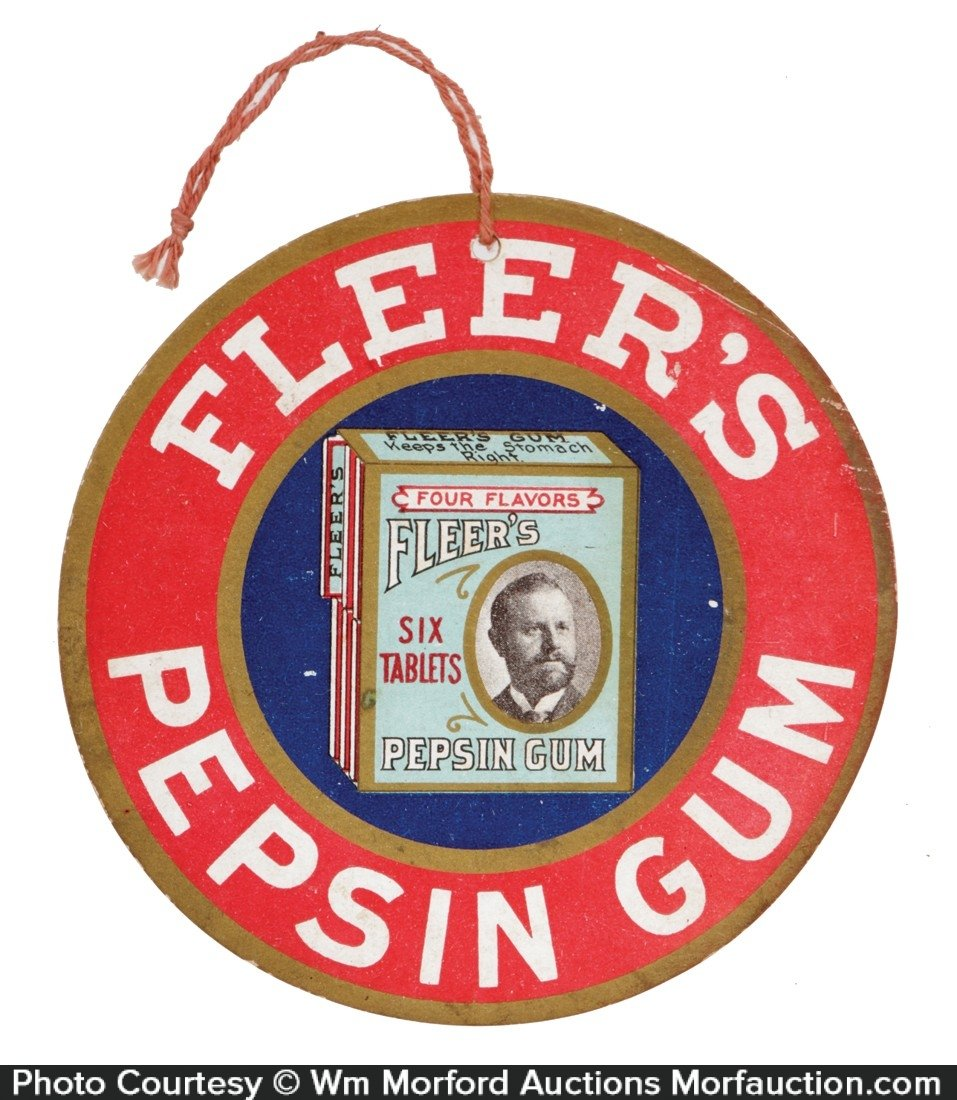 Fleer's Pepsin Gum Sign