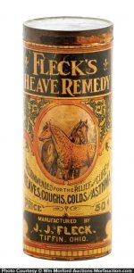 Fleck's Heave Remedy Tin