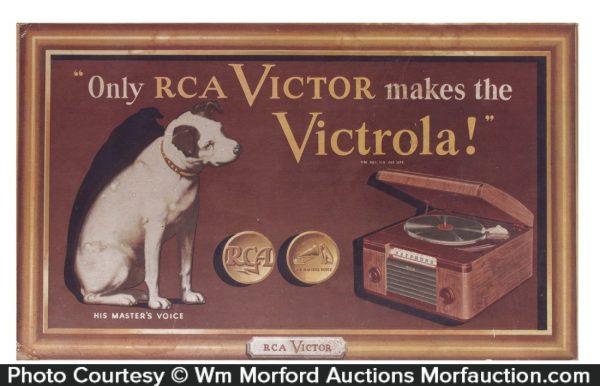 Rca Victor Victrola Sign
