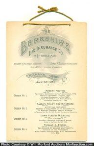 1896 Berkshire Insurance Calendar