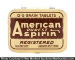 American Purest Aspirin Tin