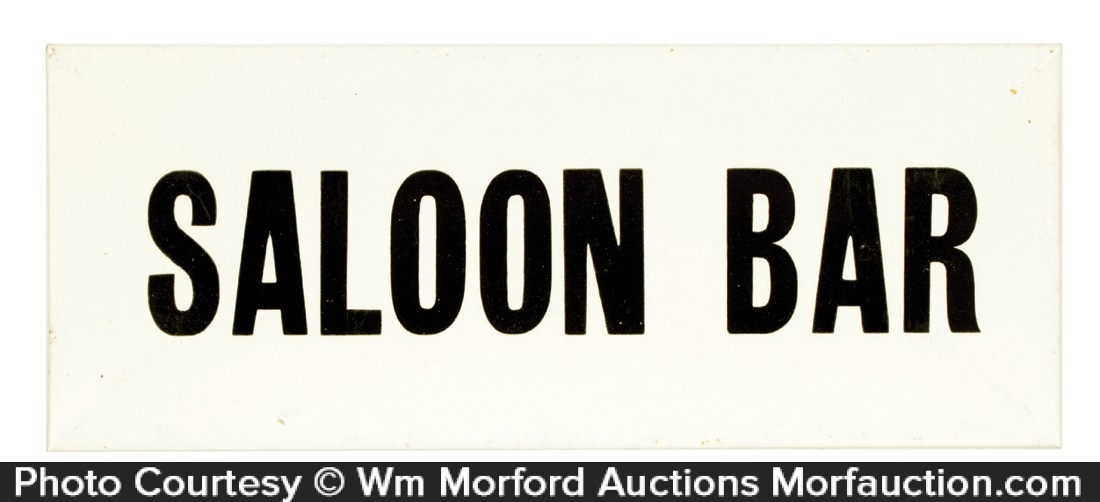 Celluloid Saloon Sign