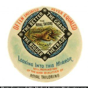 Royal Tailors Tiger Pocket Mirror