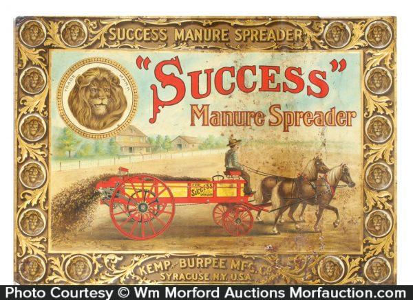 Success Manure Spreaders Sign