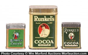 Runkel's Cocoa Sample Tins