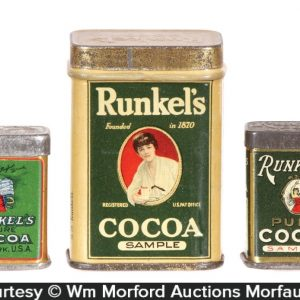 Runkel's Cocoa Sample Tins