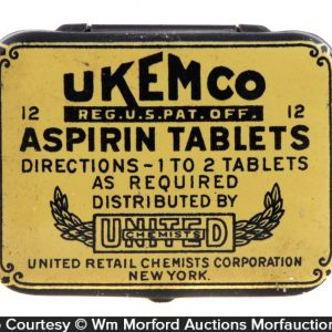 Ukemco Aspirin Tin