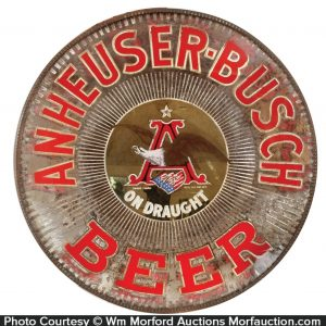 Anheuser-Busch Beer Light-Up Sign