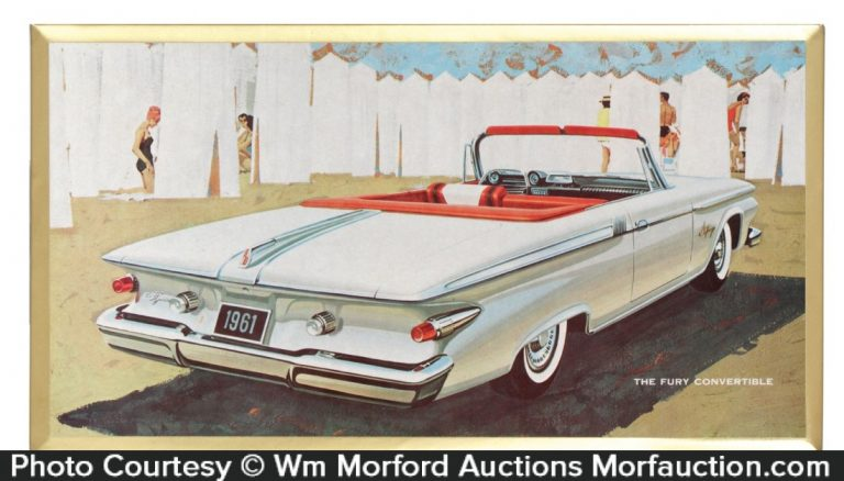 1961 Plymouth Fury Convertible Sign