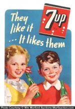 Vintage 7-Up Sign