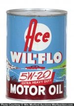 Ace Wil-Flo Motor Oil Can