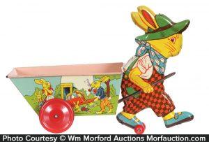 Chein Rabbit Cart Toy