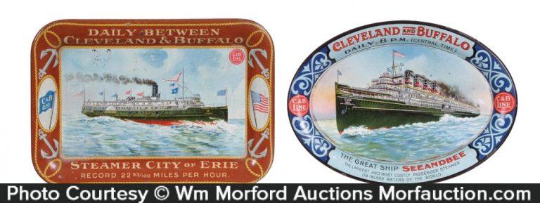 Cleveland and Buffalo Steamship Tray