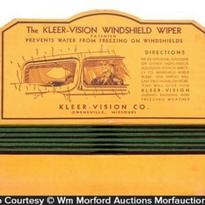 Kleer-Vision Windshield Wiper Display