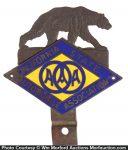 California Bear License Plate Topper