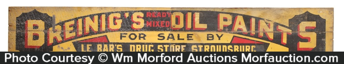 Breinig's Oil Paint Sign
