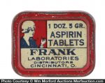 Frank Laboratories Aspirin Tin