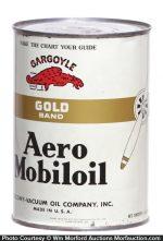 Gargoyle Gold Band Aero Mobiloil Can