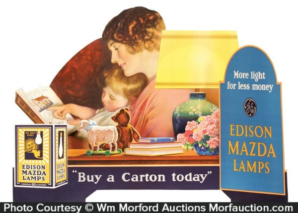 Edison Mazda Lamps Display
