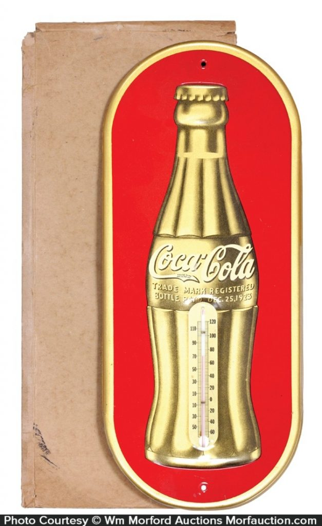 Antique Advertising Vintage Coke Thermometer Antique