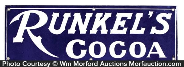 Runkel's Cocoa Porcelain Sign
