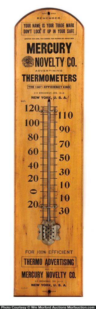 Mercury Novelty Company Thermometer