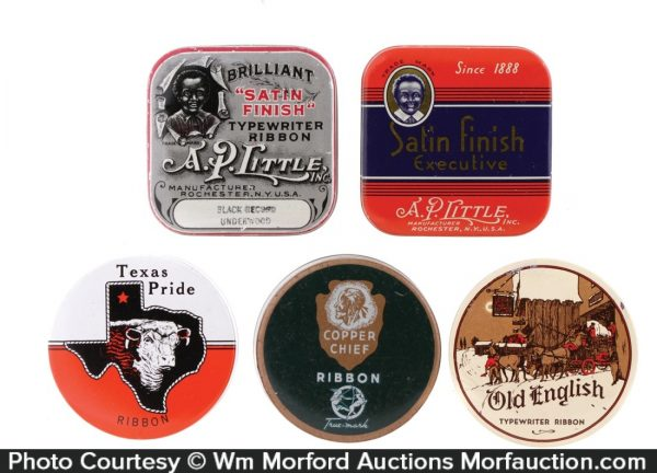 Antique Typewriter Ribbon Tins