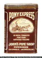 Pony Express Tobacco Tin