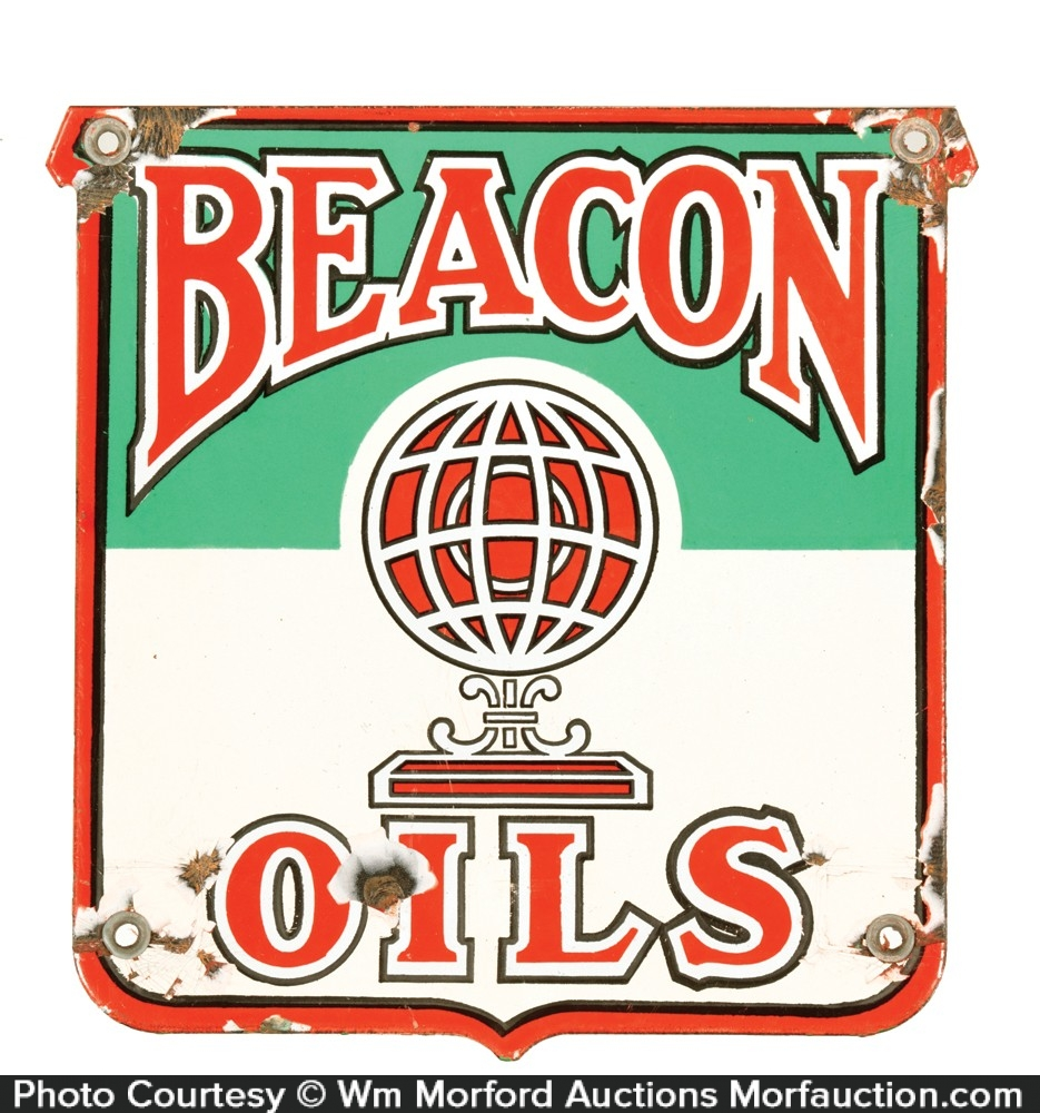 Beacon Oils Porcelain Sign