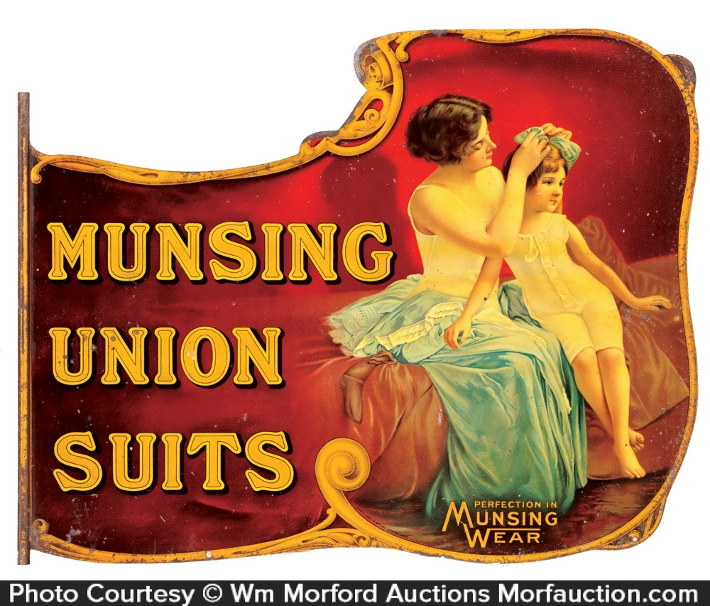 Munsing Union Suits Sign