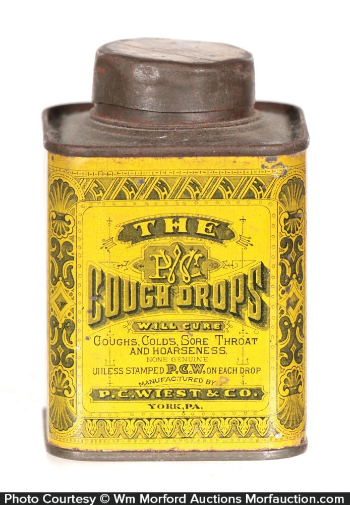 Pcw Cough Drops Tin
