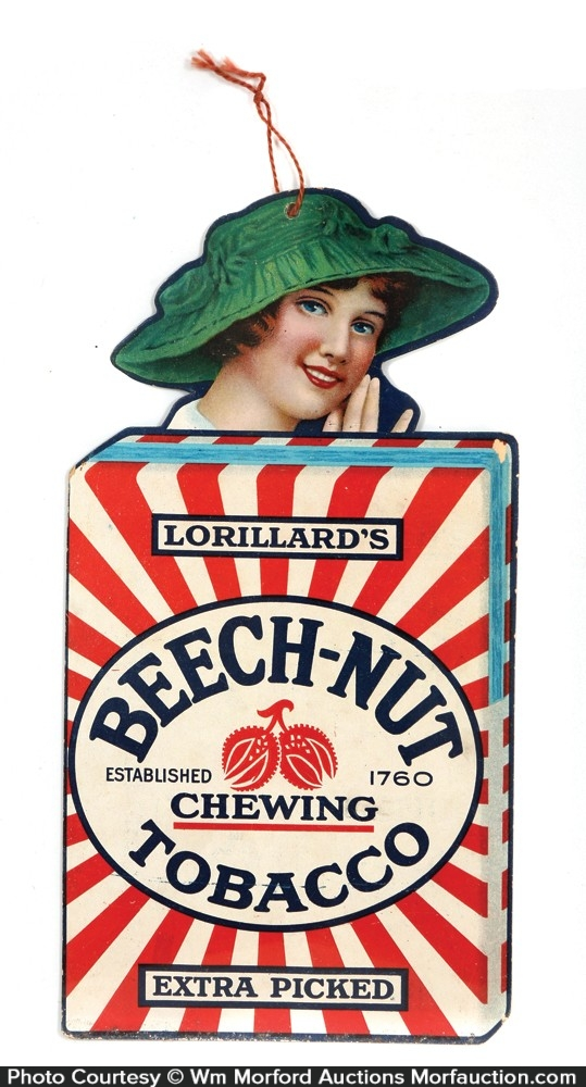 Beech-Nut Tobacco Hanging Sign