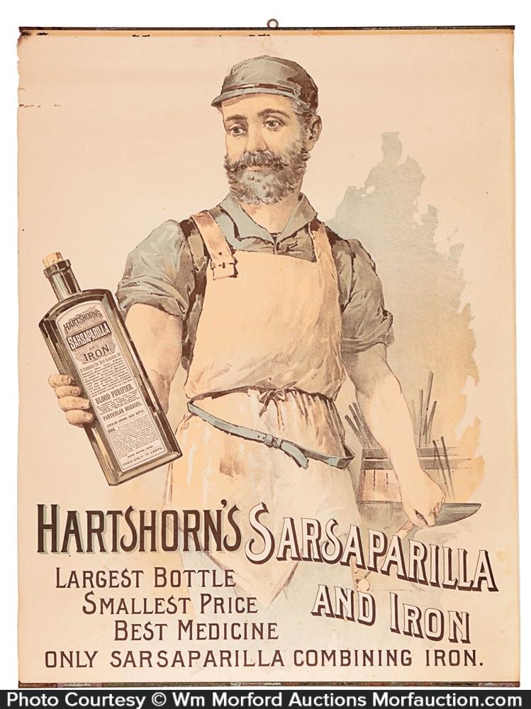 Hartshorn's Sarsaparilla Sign