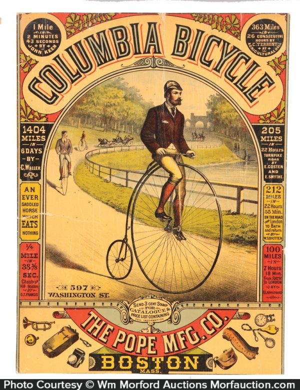 Columbia Bicycles Sign
