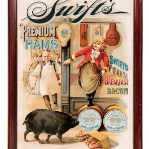 Swift's Premium Hams Sign