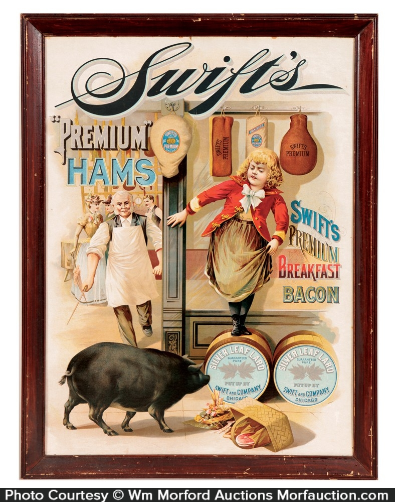 Swift's Premium Hams Sign