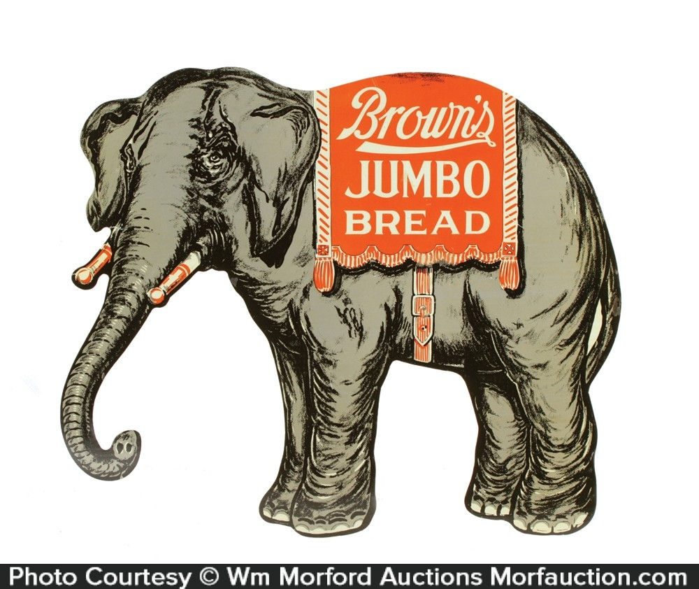 Brown's Jumbo Bread Elephant Sign