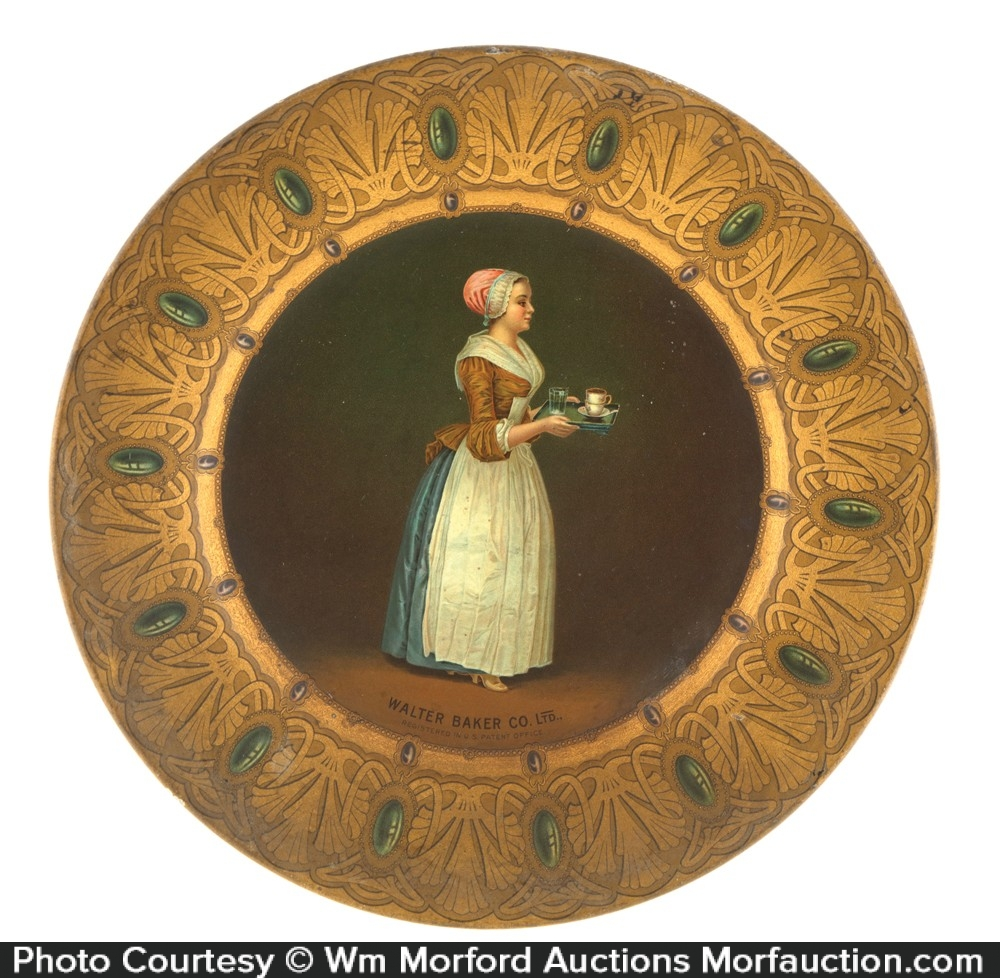 Bakers Cocoa Art Plate
