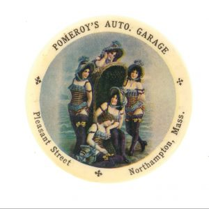 Pomeroy's Auto Garage Pocket Mirror