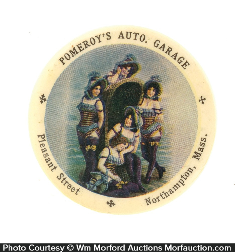 Pomeroy's Auto Garage Pocket Mirror