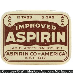Aspirin Co. Of America Tin