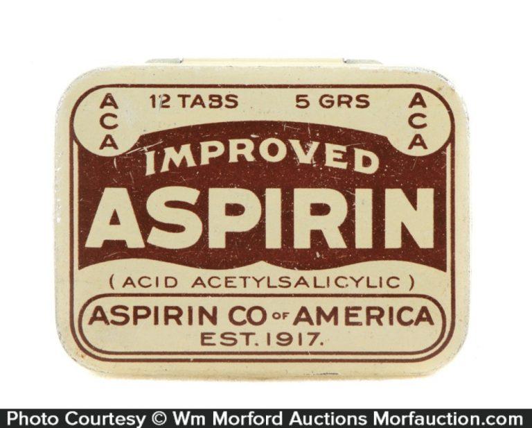 Aspirin Co. Of America Tin