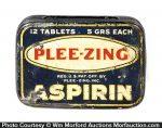 Plee-Zing Aspirin Tin