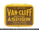 Van-Cliff Aspirin Tin