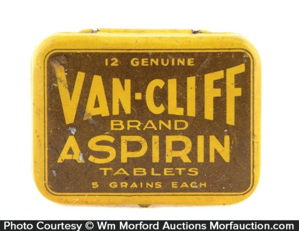 Van-Cliff Aspirin Tin
