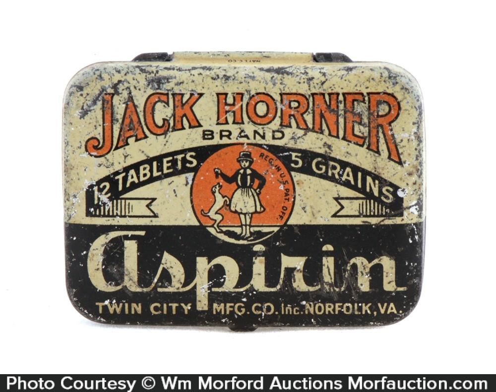 Jack Horner Aspirin Tin