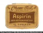 Chem-Test Aspirin Tin