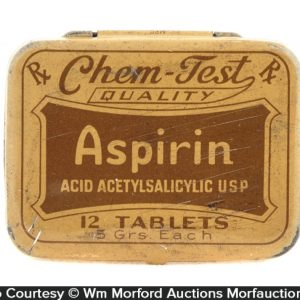 Chem-Test Aspirin Tin