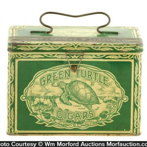 Green Turtle Cigar Tin